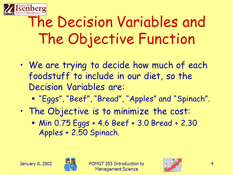 The Decision Variables and The Objective Function