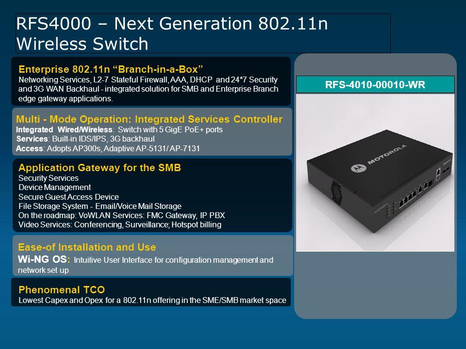 RFS4000 – Next Generation 802.11n Wireless Switch