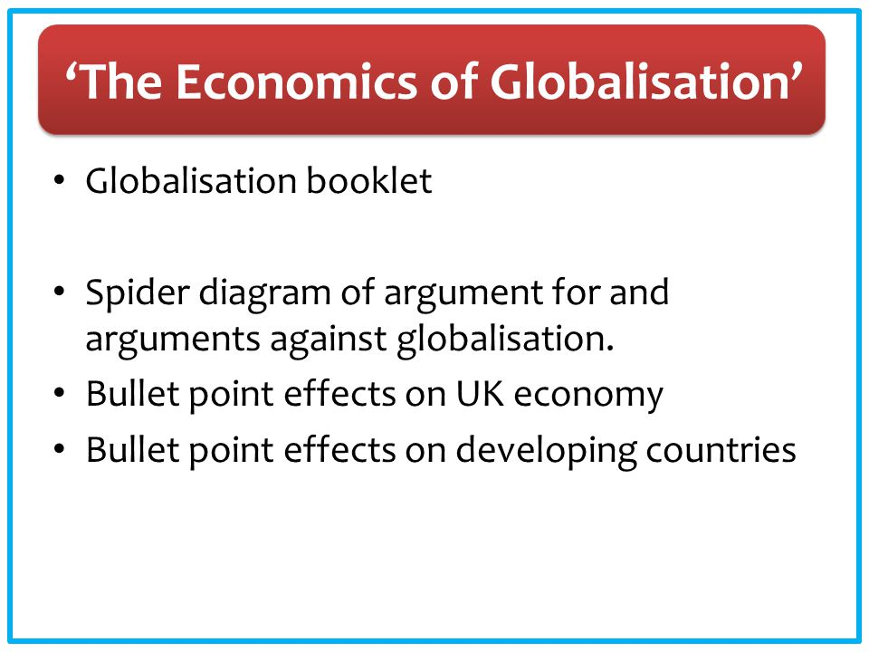 'The Economics of Globalisation'