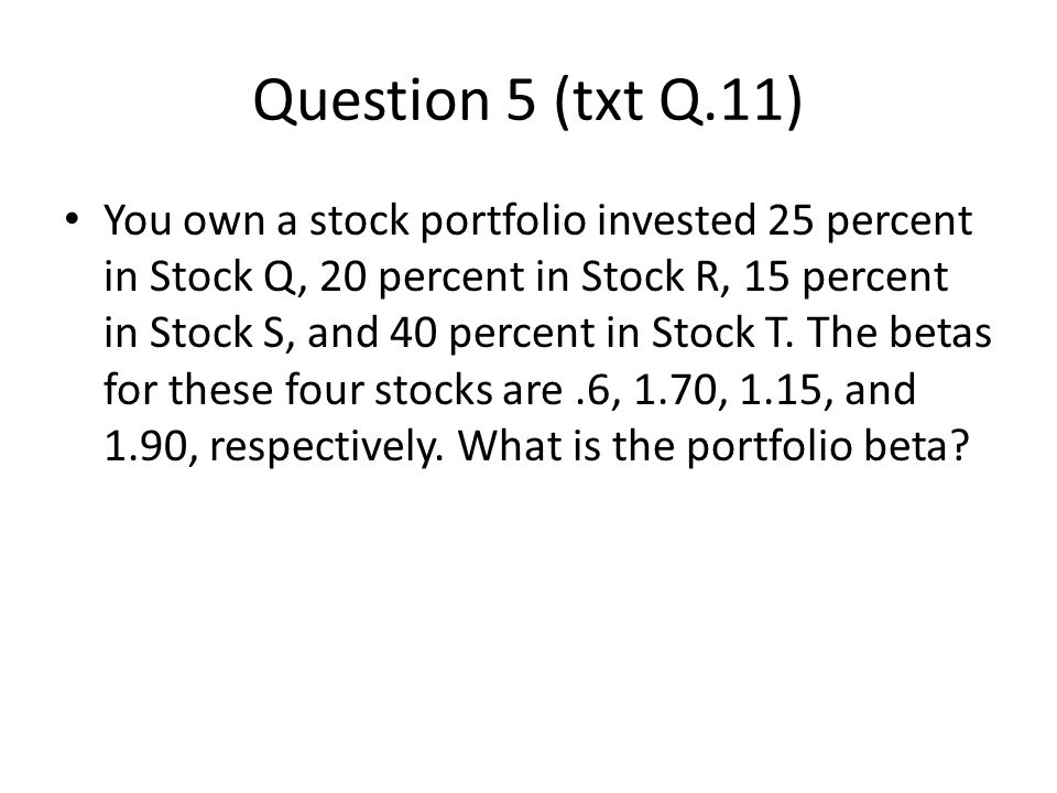 Question 5 (txt Q.11)