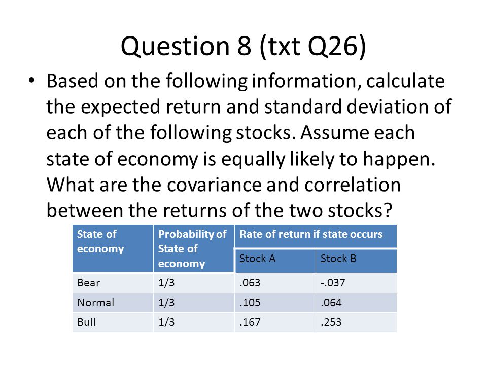 Question 8 (txt Q26)