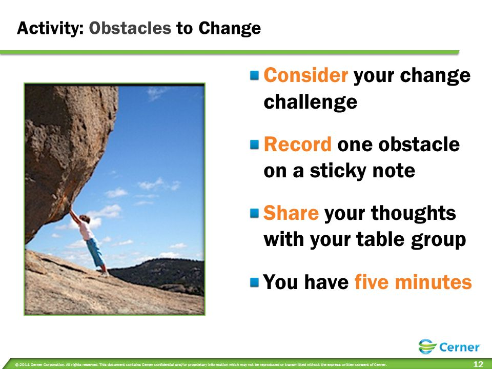 Activity: Obstacles to Change