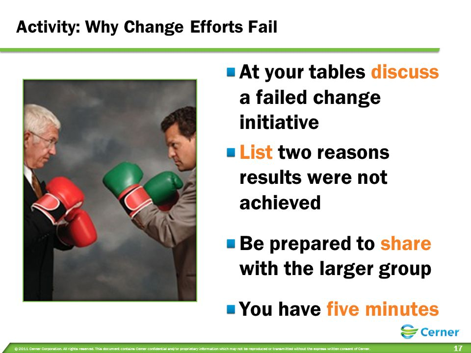 Activity: Why Change Efforts Fail