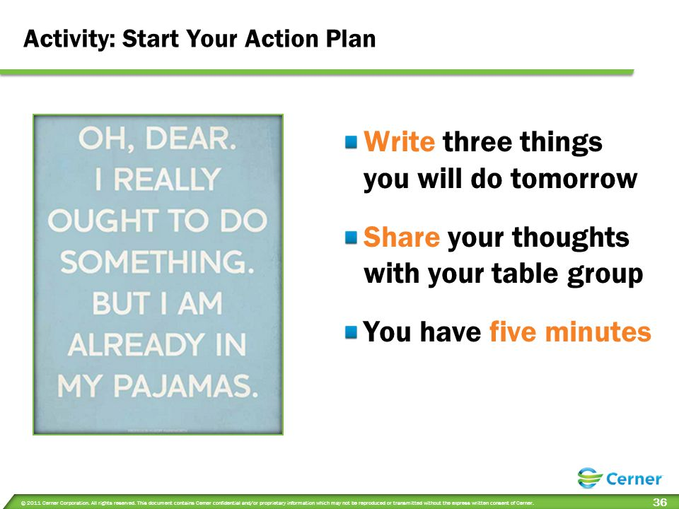 Activity: Start Your Action Plan