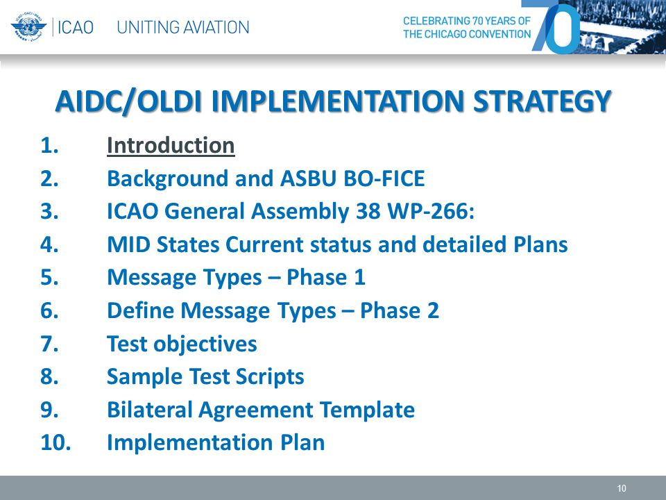 AIDC/OLDI IMPLEMENTATION STRATEGY