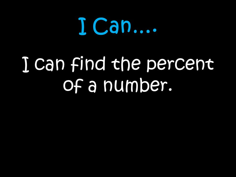 I can find the percent of a number.