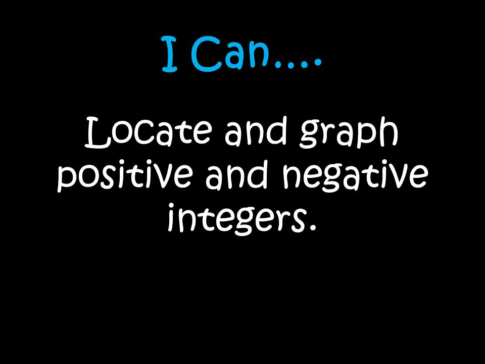 Locate and graph positive and negative integers.