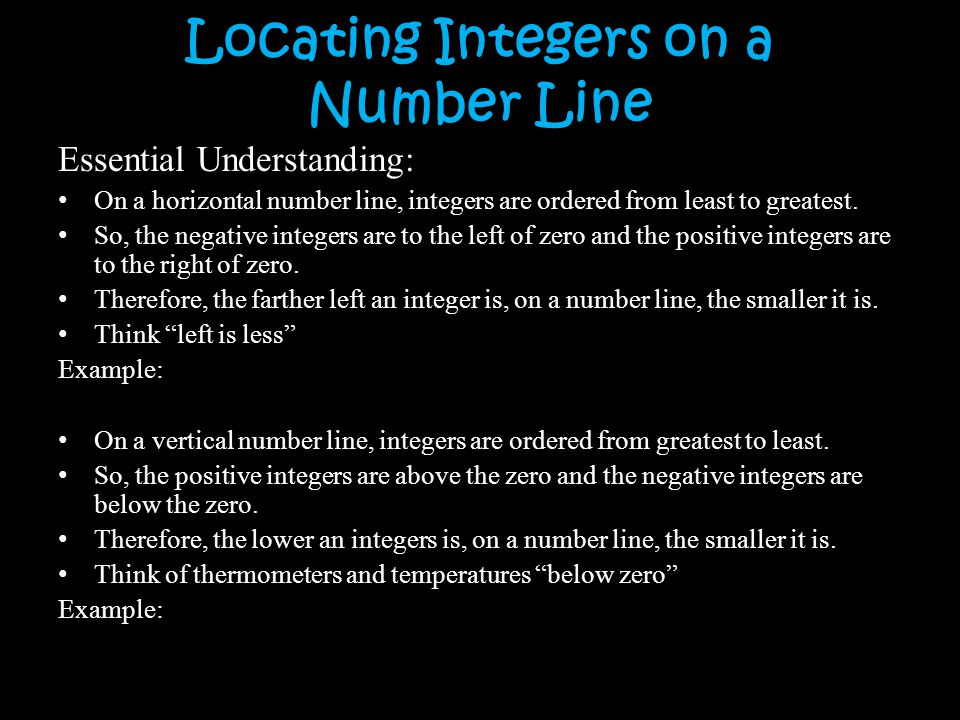 Locating Integers on a Number Line
