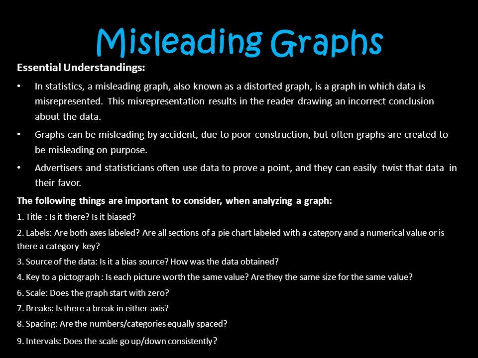 Misleading Graphs Essential Understandings: