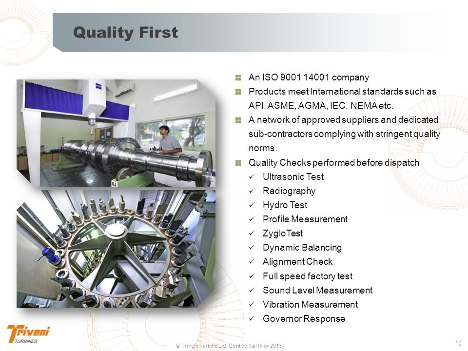 Quality First An ISO 9001 14001 company