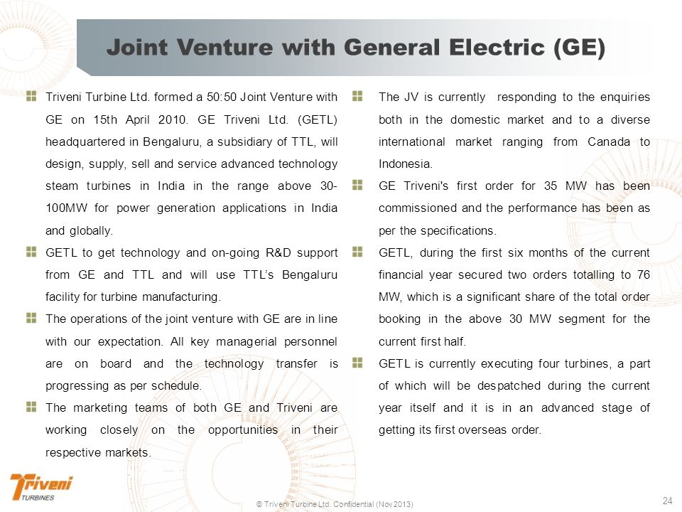 Joint Venture with General Electric (GE)