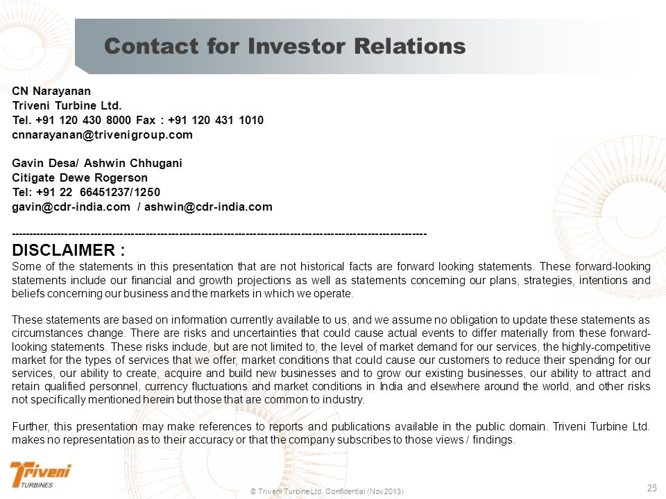 Contact for Investor Relations