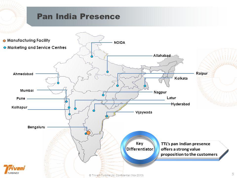 Pan India Presence Manufacturing Facility. Marketing and Service Centres. NOIDA. Allahabad. Ahmedabad.