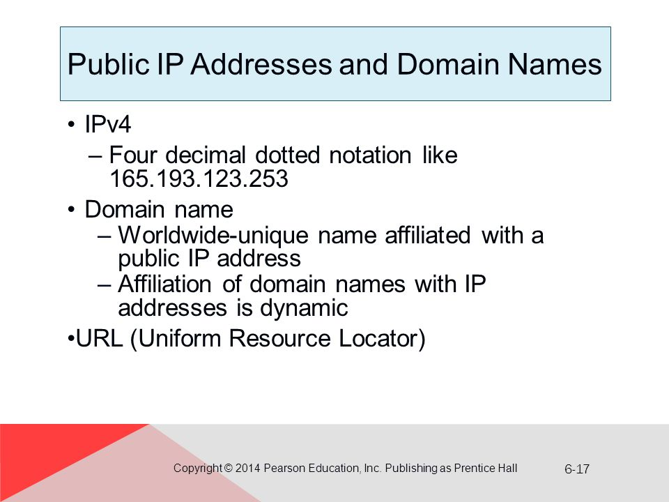 Public IP Addresses and Domain Names