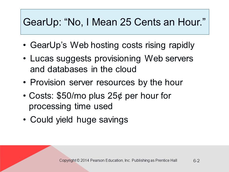 GearUp: No, I Mean 25 Cents an Hour.