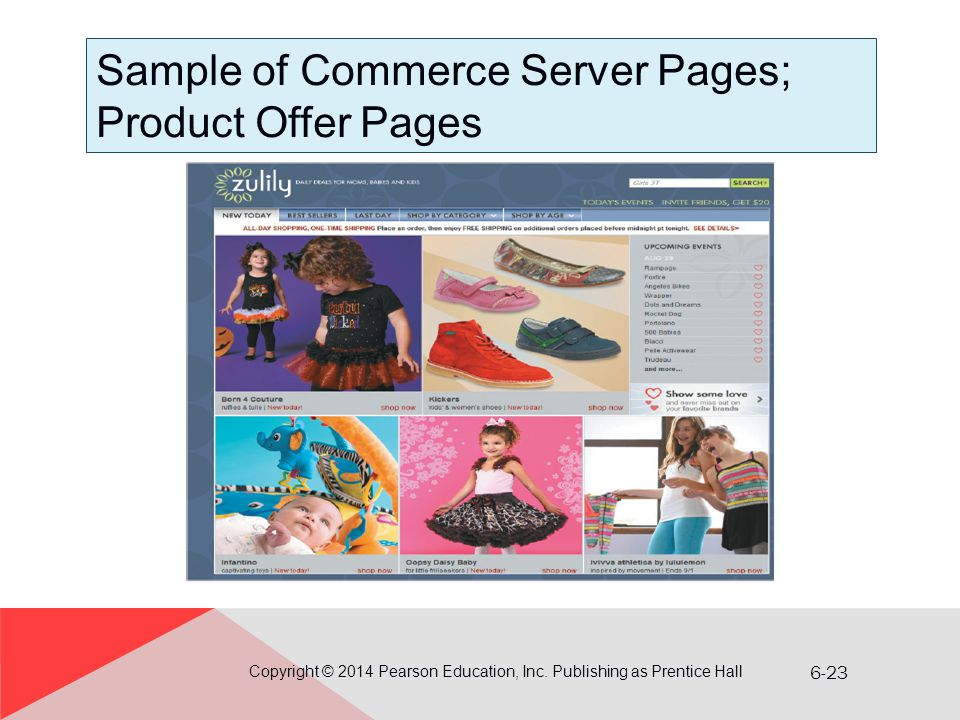 Sample of Commerce Server Pages; Product Offer Pages