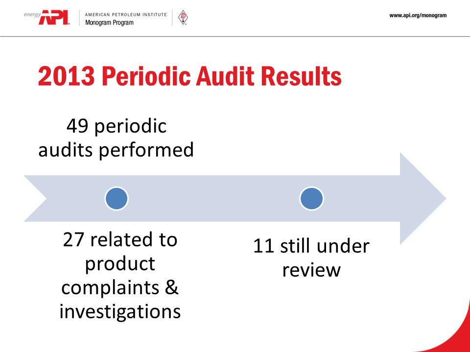 2013 Periodic Audit Results