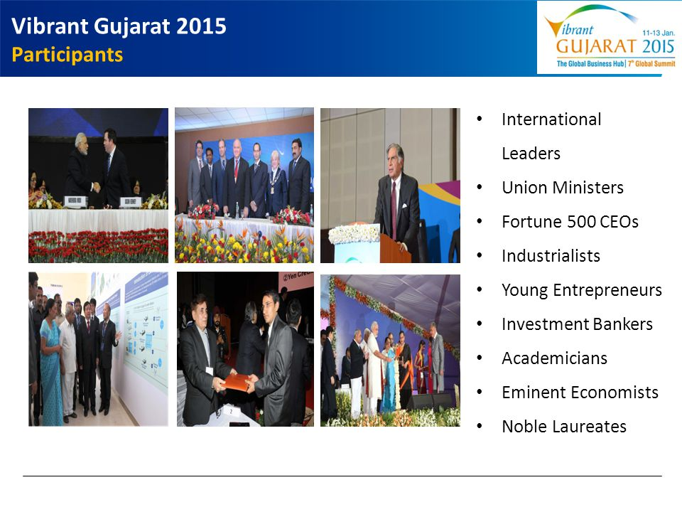 Vibrant Gujarat 2015 Participants International Leaders