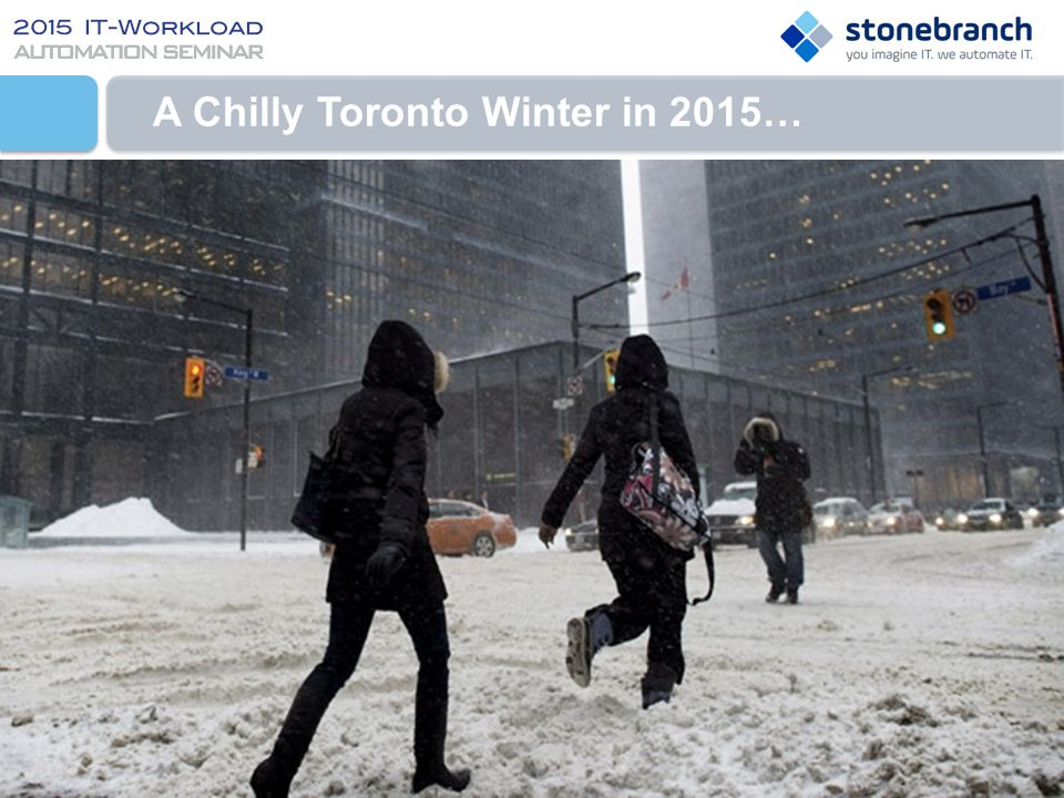 A Chilly Toronto Winter in 2015…
