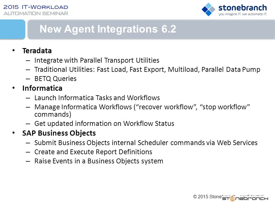 New Agent Integrations 6.2