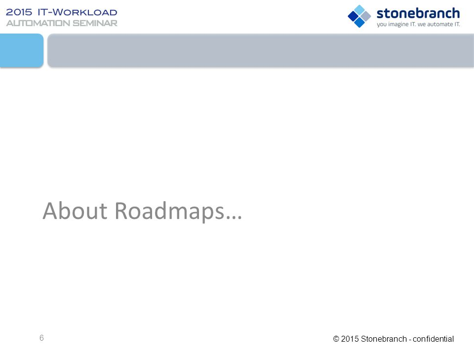 About Roadmaps…