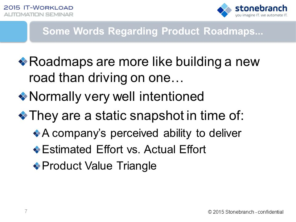 Some Words Regarding Product Roadmaps...