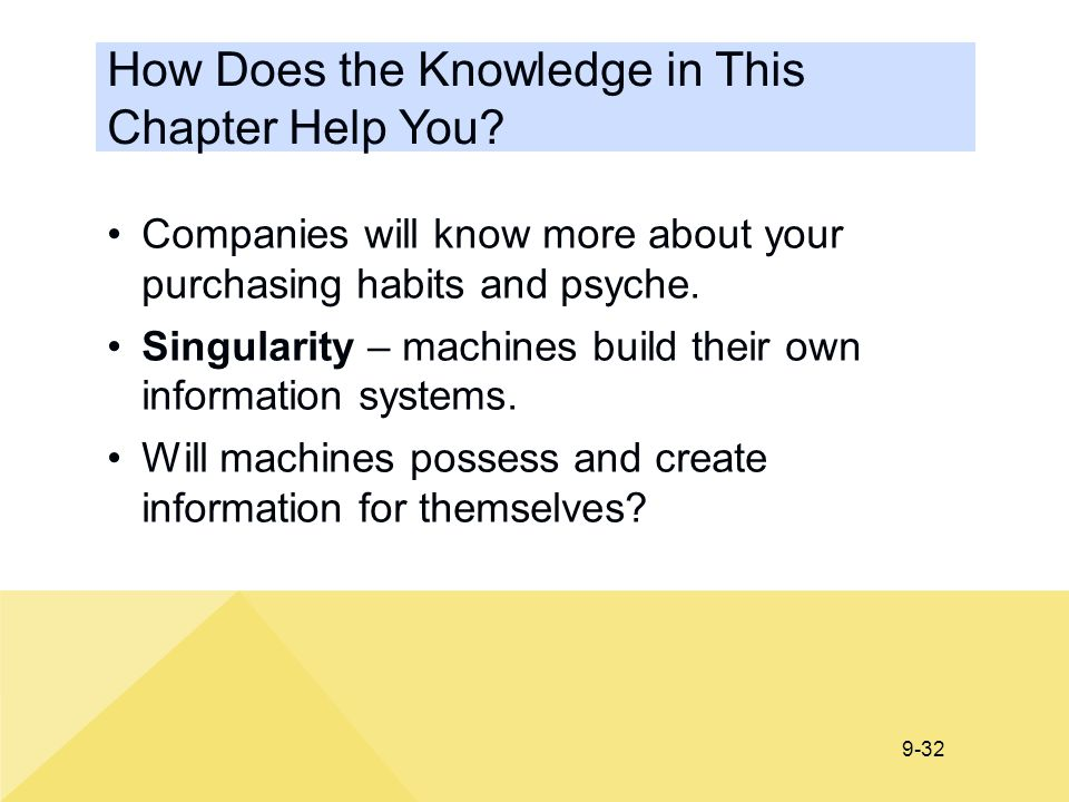 How Does the Knowledge in This Chapter Help You