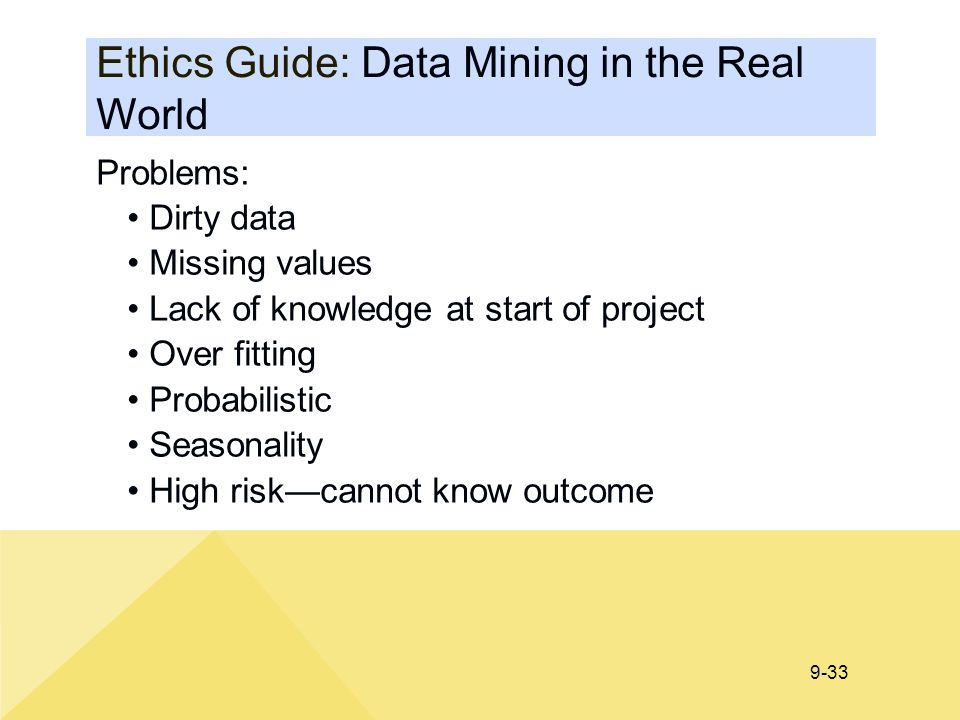 Ethics Guide: Data Mining in the Real World