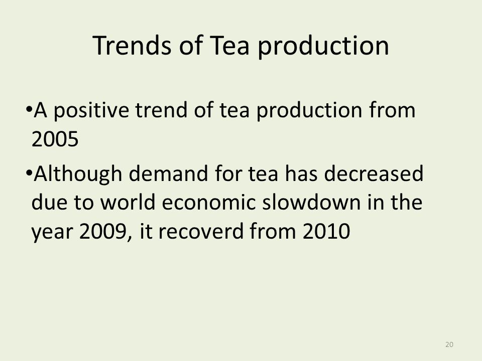 Trends of Tea production