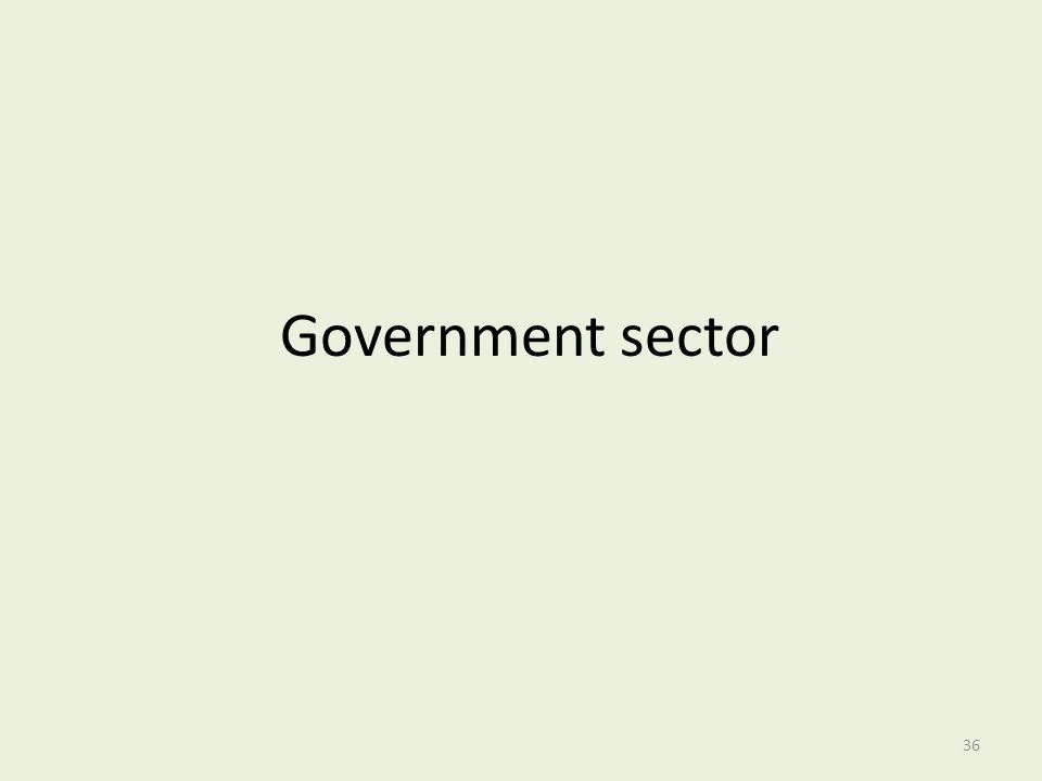Government sector
