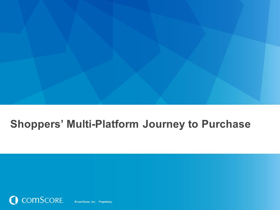 Shoppers' Multi-Platform Journey to Purchase