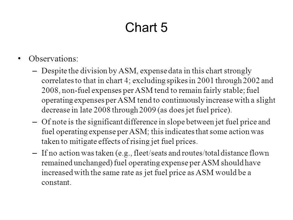 Chart 5 Observations: