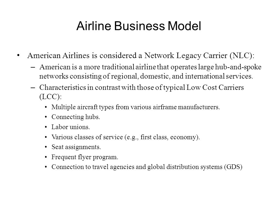 Airline Business Model