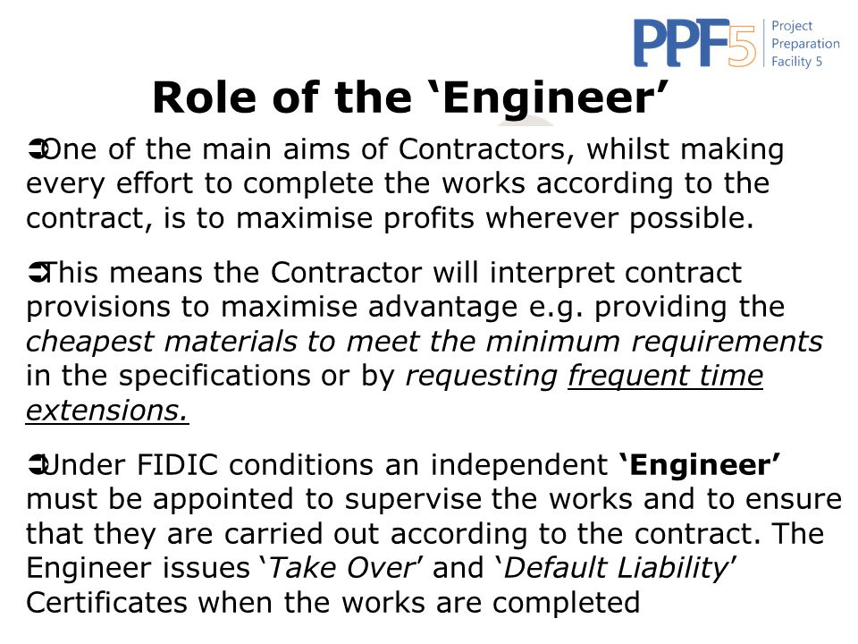 Role of the 'Engineer'