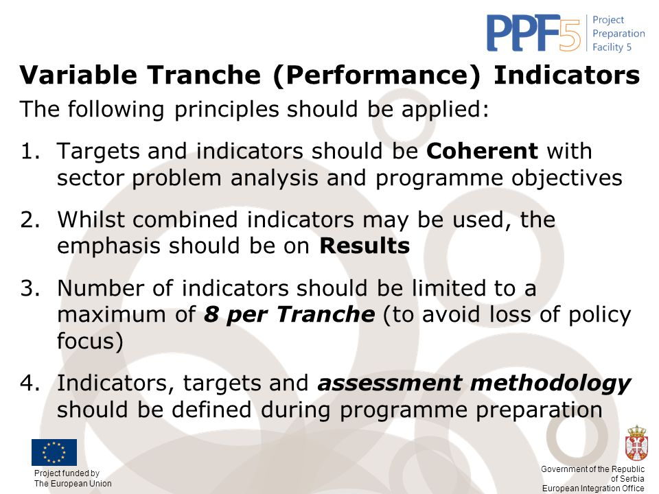 Variable Tranche (Performance) Indicators
