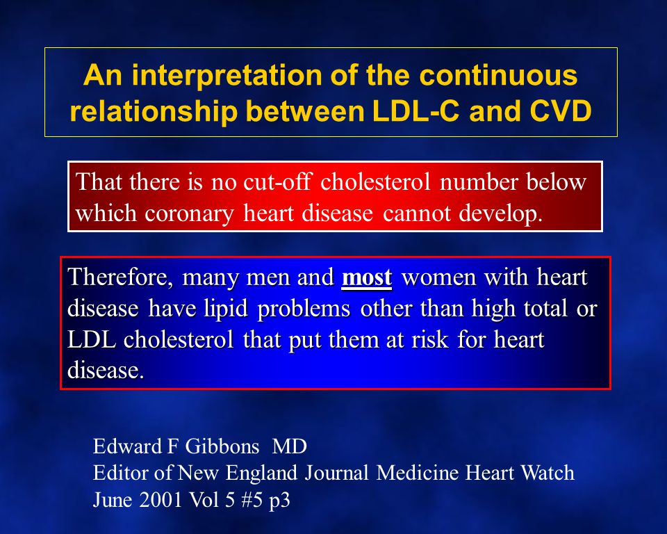 An interpretation of the continuous relationship between LDL-C and CVD