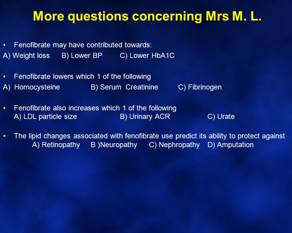 More questions concerning Mrs M. L.