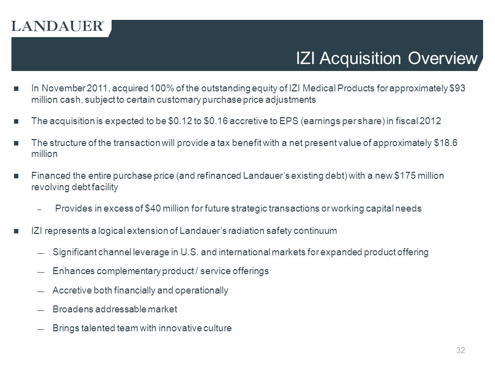 IZI Acquisition Overview