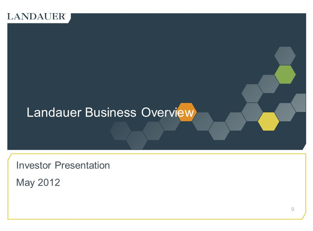 Landauer Business Overview