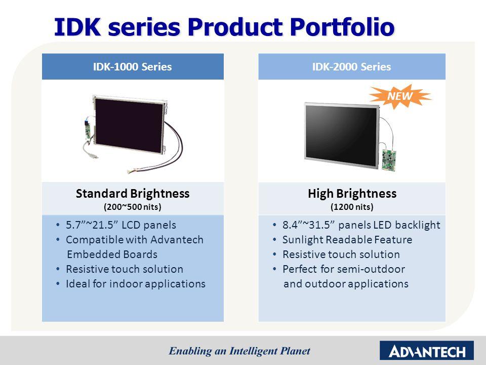 IDK series Product Portfolio
