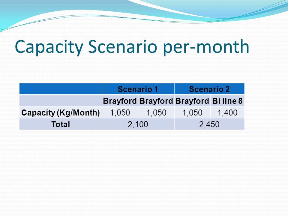 Capacity Scenario per-month