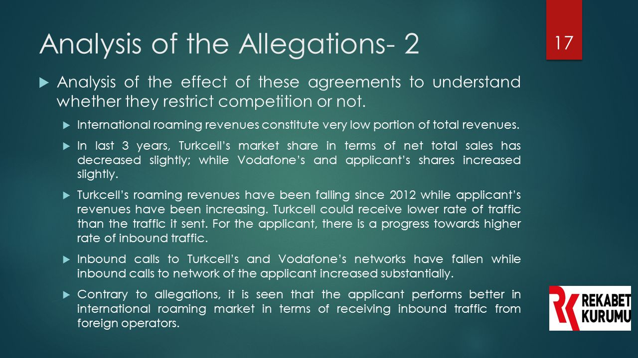 Analysis of the Allegations- 2
