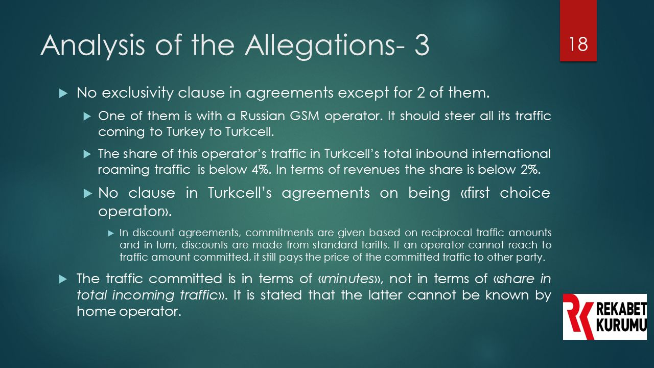 Analysis of the Allegations- 3
