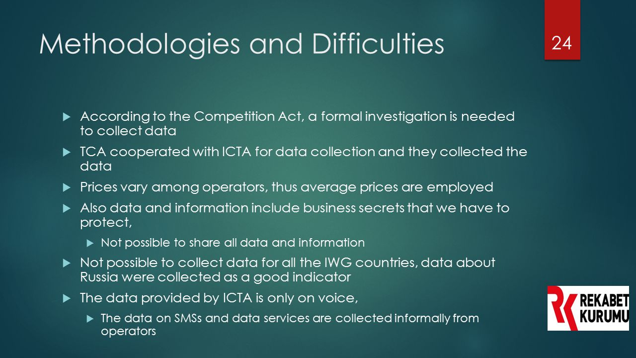Methodologies and Difficulties