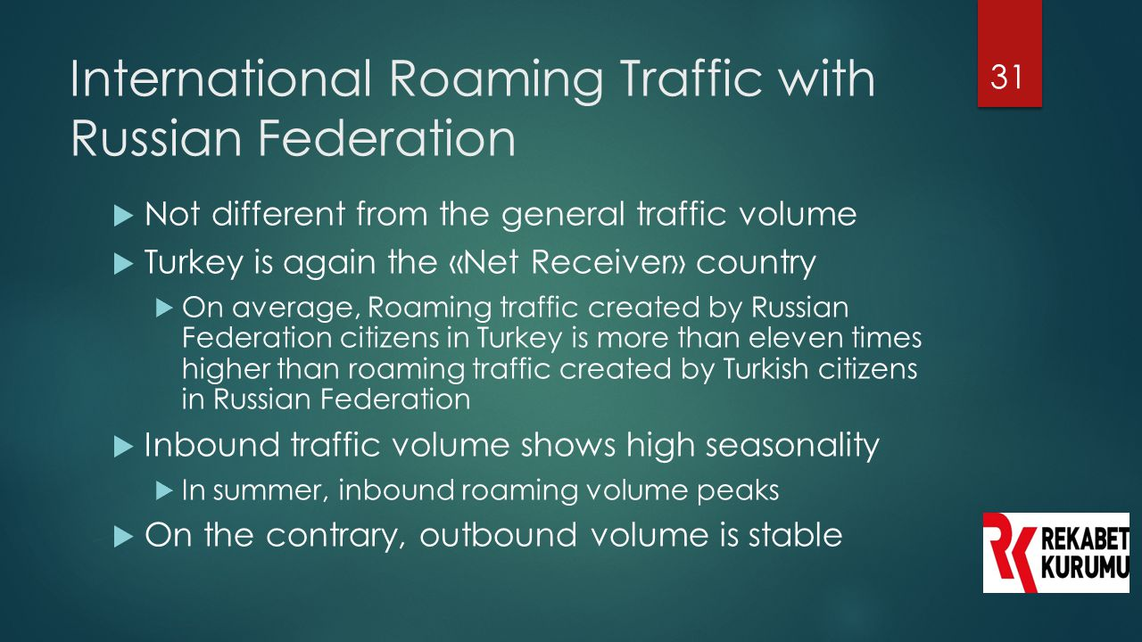 International Roaming Traffic with Russian Federation
