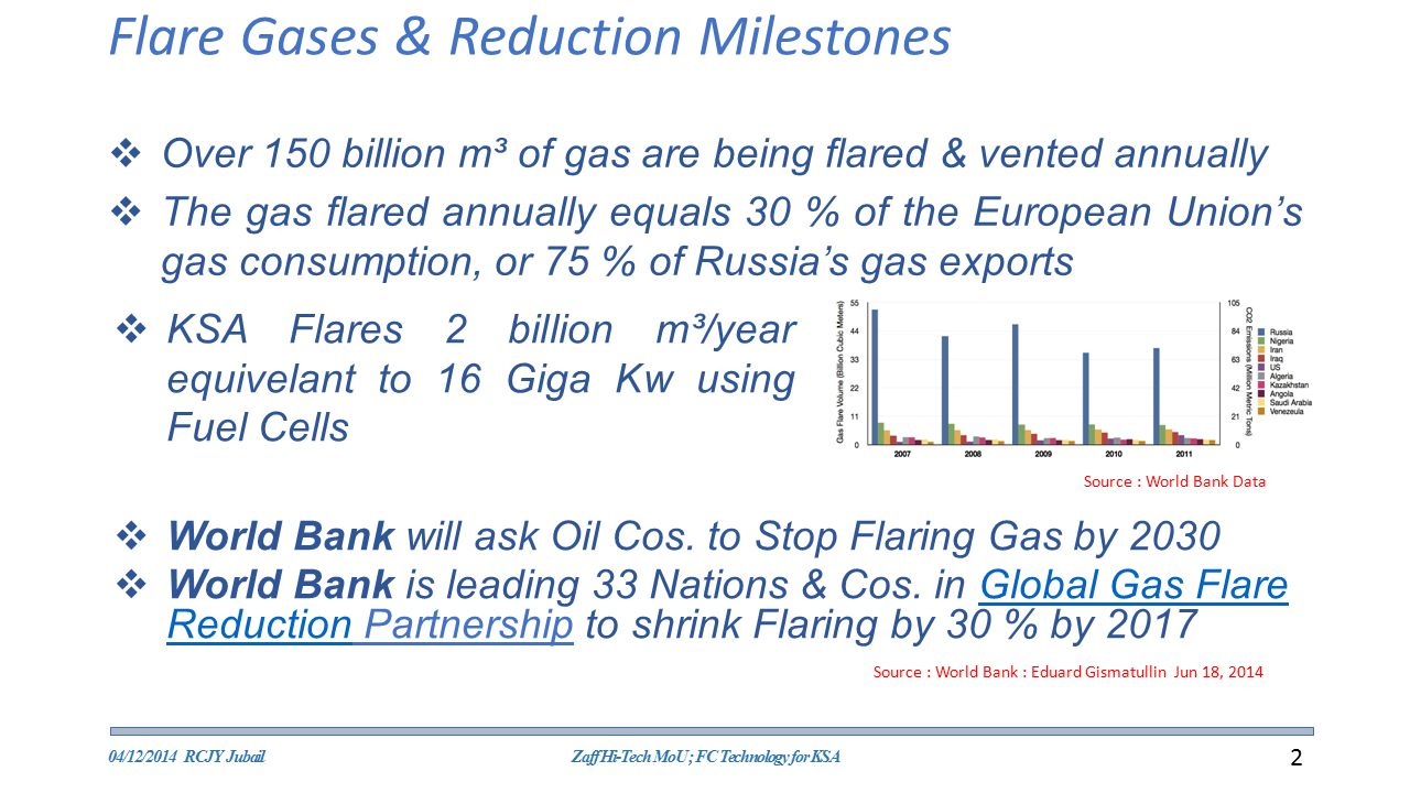 Flare Gases & Reduction Milestones
