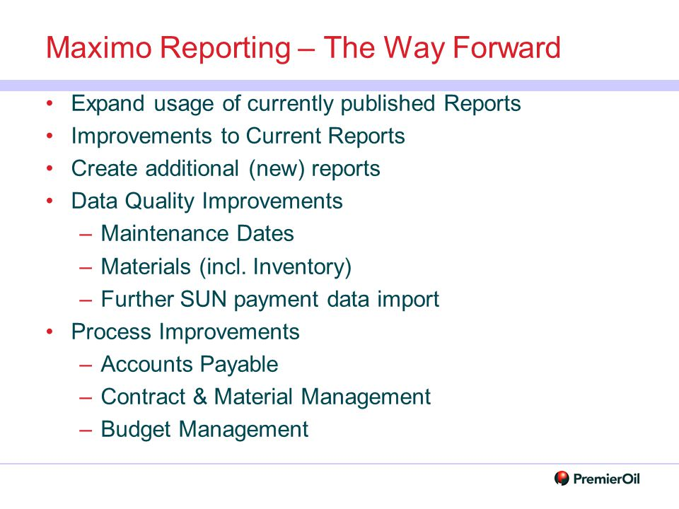 Maximo Reporting – The Way Forward