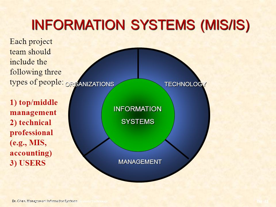 INFORMATION SYSTEMS (MIS/IS)