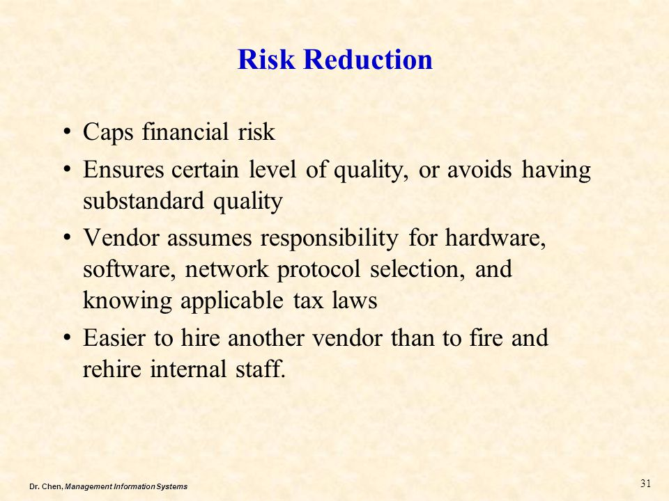Risk Reduction Caps financial risk