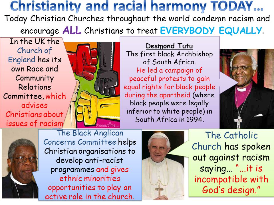 Christianity and racial harmony TODAY…